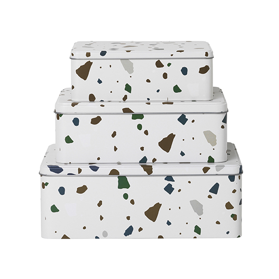 Boites Tin Boxes Terrazzo Modern Living
