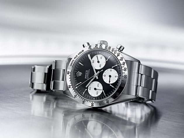 Rolex, Visuel pour la presse, Collection Daytona, Modèle 1963, cadran noir