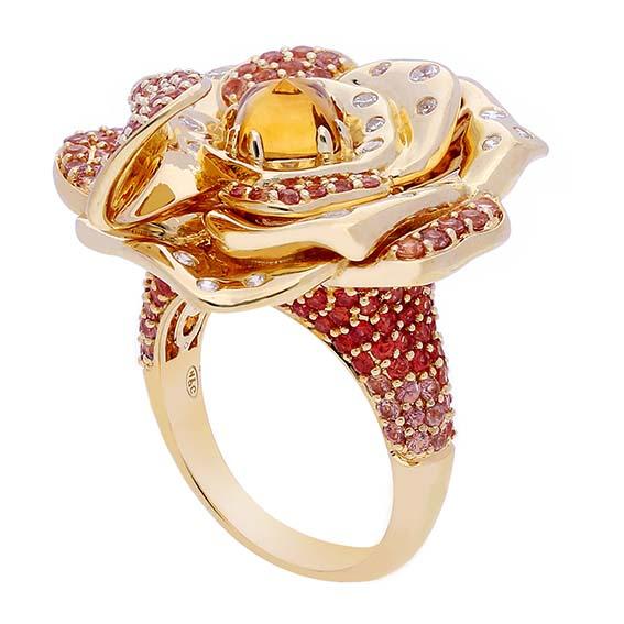 Gringoire Joaillier   Bague «Un bijou de fleur»