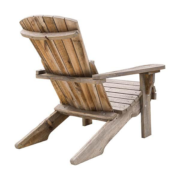 Fauteuil Adirondack Atmosphère Bois En bois ancien de grange canadien. PPC: 550 €