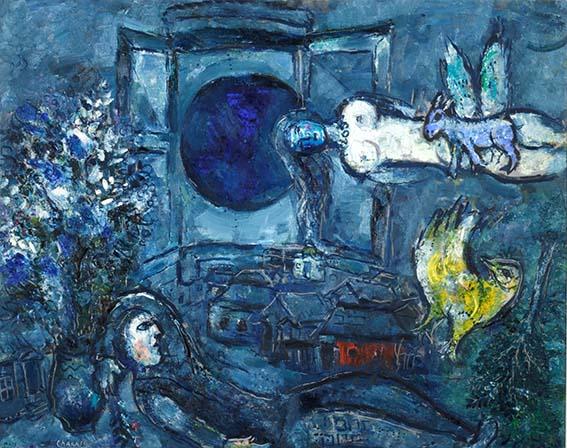 Marc CHAGALL - La Fenêtre dans le Ciel, 1957