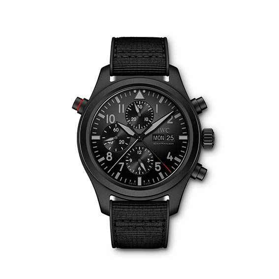 Pilot's Watch Double Chronograph TOP GUN Ceratanium back