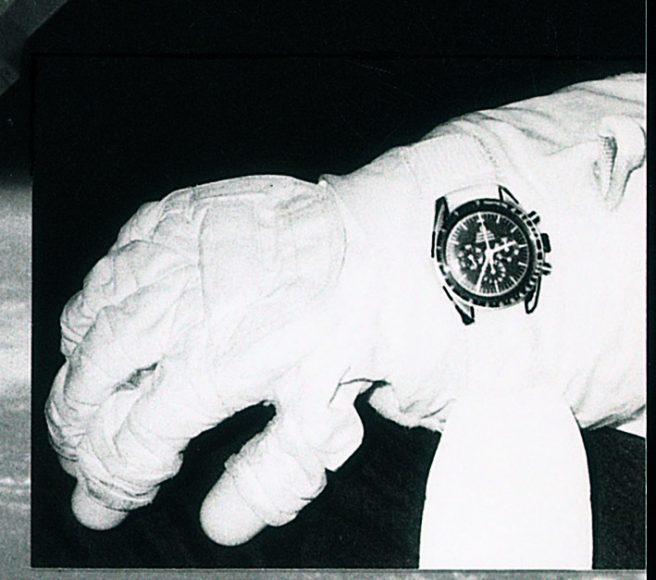 p391 Speedmaster sur le bras d'un astronaute