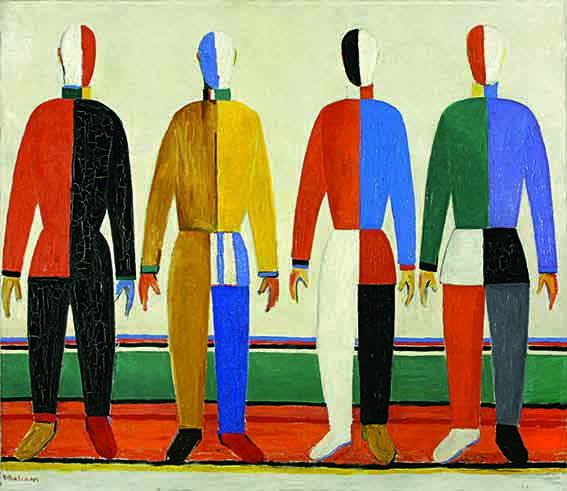 Sportsmen - Kazimir Malevitch