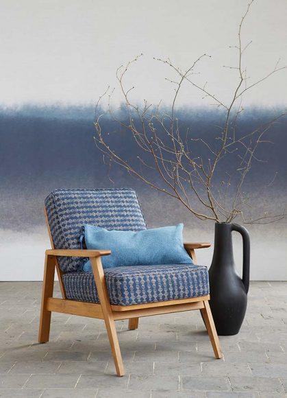 Fauteuil vintage Batik La Redoute Intérieur Structure chêne massif et revêtement 55% lin  et 45% coton. PPC: 299 €