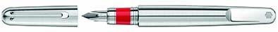 Stylo plume (Montblanc M) RED. Pour l'association RED engagée pour la lutte contre le sida et créée par Bono et Bobby Shriver, la Marque dévoile son édition limitée (Montblanc M) RED Signature. PPC: 1380 €.