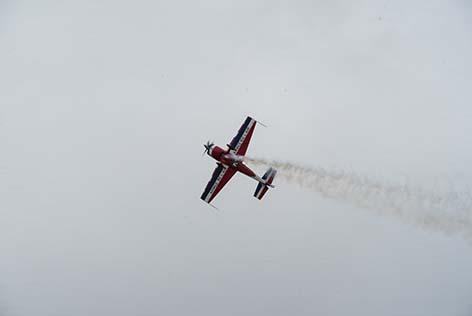 Démonstrations en vol des avios du carrefour de l'air