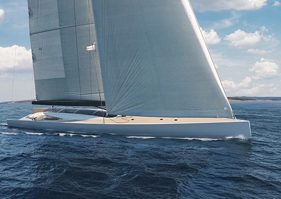 Under sail front