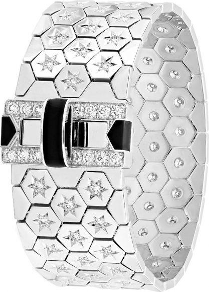 Van Cleef & Arpels Bracelet Ludo En or blanc, onyx et diamants.
