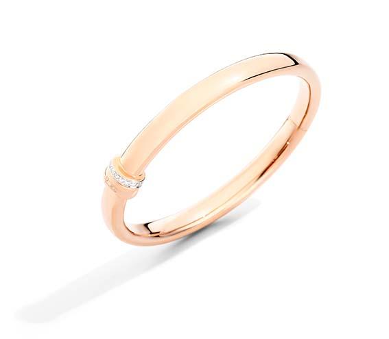 Pomellato Bracelet Collection Iconica En or rose et diamants blancs.